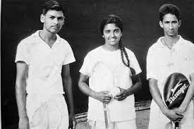 Young Kiran Bedi on a Tennis court | KIRAN BEDI - A Powerful Woman Of 21st Century | www.krescon.com