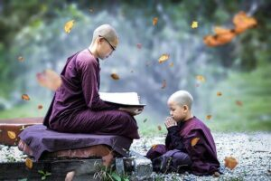 Buddhist teacher and his student | 5 Supreme levels of Maslow's Hierarchy Theory and a Unique Approach by Krescon | krescon.com